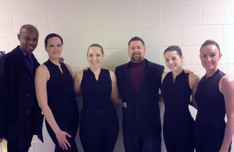 Following the premiere of my ballet, Light Plays on Frost. General McArthur Hambrick and I with my cast: Andrea Kilmer, Kat Ward, Michele Boyd, and Lisa Pulse. 2014.